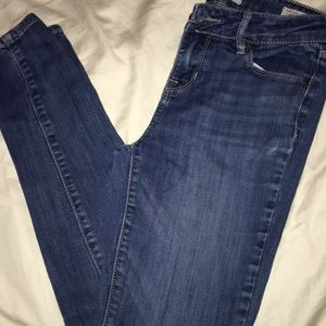 Mid rise skinny jeans in a medium wash